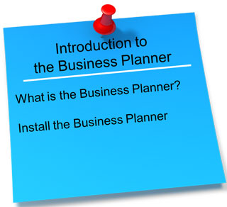 Introduction to the RiskBuster Business Planner. Click here to get started.